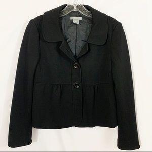 Ann Taylor Petites | Black Peplum Classic Blazer